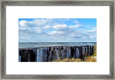 Cedar Island Gale Framed Print by Karen Rhodes