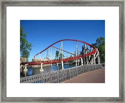 Cedar Point - Iron Dragon - 12121 Framed Print by DC Photographer