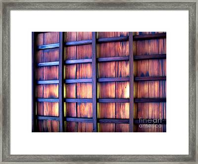 Ceiling At The Japanese House Philadelphia Usa Framed Print by Ausra Paulauskaite