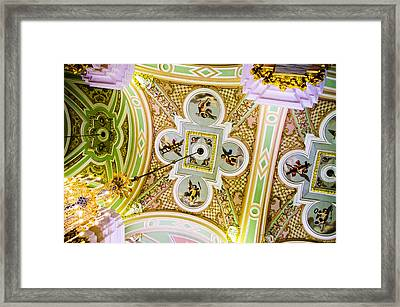 Ceiling - Cathedral Of Saints Peter And Paul Framed Print by Jon Berghoff