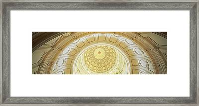 Ceiling Of The Dome Of The Texas State Framed Print by Panoramic Images