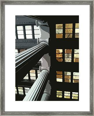 Skylights Framed Print by Julio Lopez