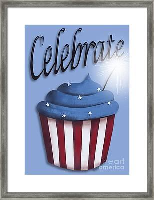 Celebrate The 4th / Blue Framed Print by Catherine Holman