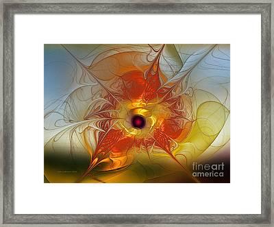 Celebration For A Rising Star-abstract Fractal Art Framed Print by Karin Kuhlmann
