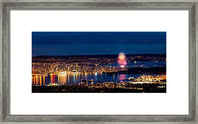 Celebration Of Light 2014 - Day 1 - Usa Framed Print by Alexis Birkill