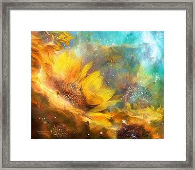 Celestial Sunflowers Framed Print by Carol Cavalaris