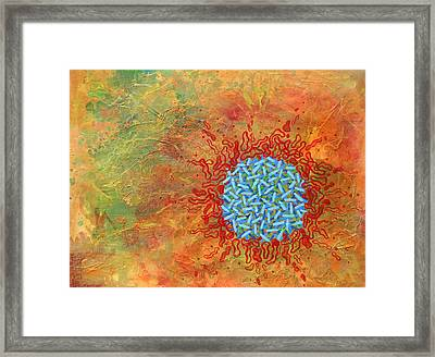 Cell No.1 Framed Print by Angela Canada-Hopkins