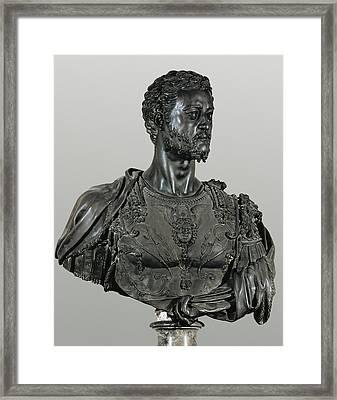 Cellini, Benvenuto 1500-1571. Bust Framed Print by Everett