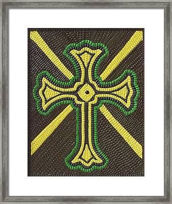 Celtic Cross Framed Print by Paul London