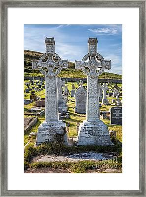 Celtic Crosses Framed Print by Adrian Evans