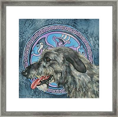 Celtic Hound Framed Print by Beth Clark-McDonal