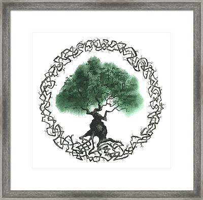 Celtic Tree Of Life 2 Framed Print by Sean Seal