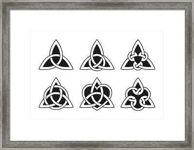 Celtic Triangle Knots Framed Print by Peter Hermes Furian