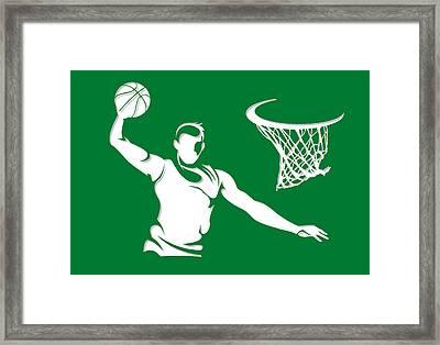 Celtics Shadow Player1 Framed Print by Joe Hamilton