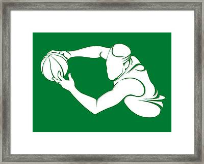 Celtics Shadow Player2 Framed Print by Joe Hamilton