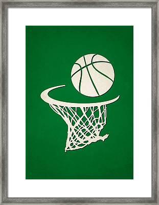 Celtics Team Hoop2 Framed Print by Joe Hamilton