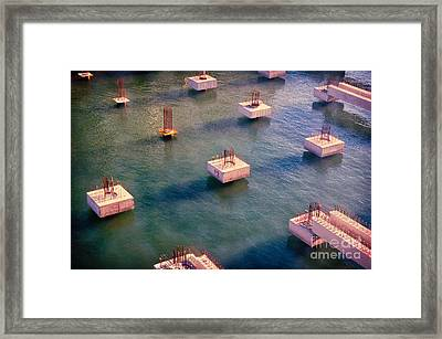 Cement Cubes Framed Print by Silvia Ganora