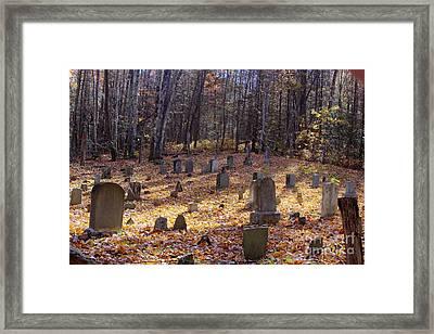 Cemetery 1 Framed Print by Crystal Nederman