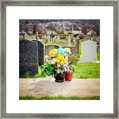 Cemetery Flowers Framed Print by Tom Gowanlock