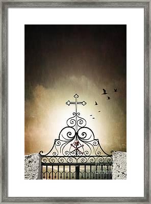 Cemetery Gate Framed Print by Carlos Caetano
