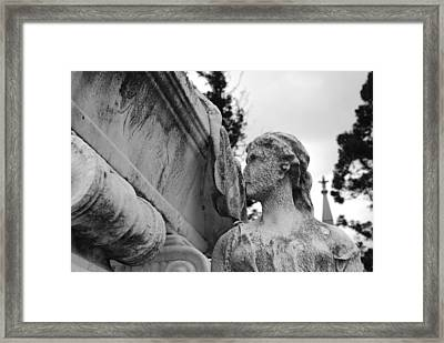 Cemetery Gentlewoman Framed Print by Jennifer Lyon