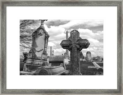 Cemetery Graves Framed Print by Jennifer Lyon