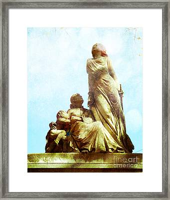 Cemetery Guardian Framed Print by Sonja Quintero