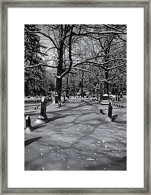 Cemetery In Winter  Framed Print by Joshua House