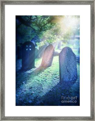 Cemetery Light Framed Print by Jill Battaglia