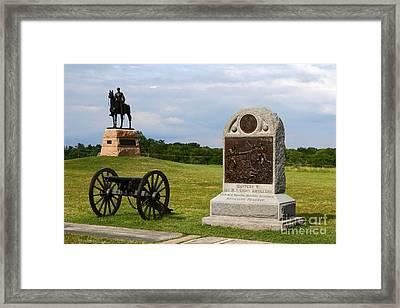 Cemetery Ridge Gettysburg Framed Print by James Brunker