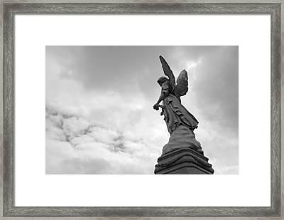Cemetery Watcher Framed Print by Jennifer Ancker