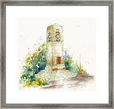 Cenotaph Clock Tower Framed Print by Pat Katz