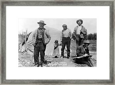Census Taking Wisconsin Framed Print by Granger