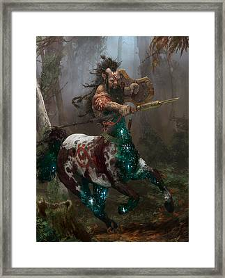 Centaur Token Framed Print by Ryan Barger