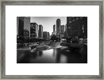 Centennial Fountain In Black And White Framed Print by Sven Brogren