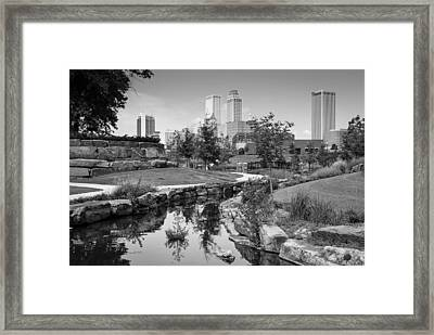 Centennial Park Tulsa Oklahoma Skyline Framed Print by Gregory Ballos