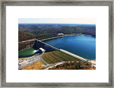 Center Hill Dam Framed Print by Louis Colombarini