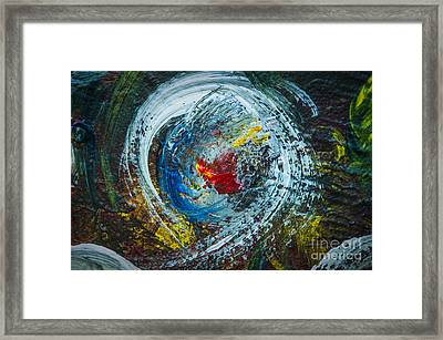 Centered Heart Framed Print by Terry Rowe