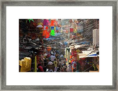Central Bazaar District, Mumbai, India Framed Print by Peter Adams
