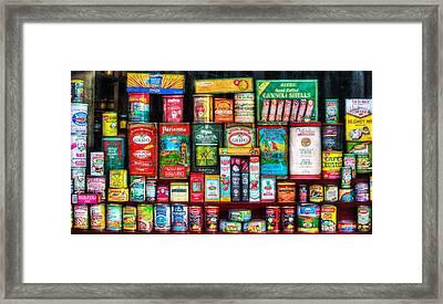 Central Grocery Essentials Framed Print by Brenda Bryant