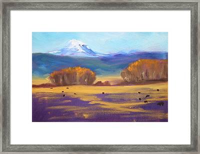 Central Oregon Framed Print by Nancy Merkle