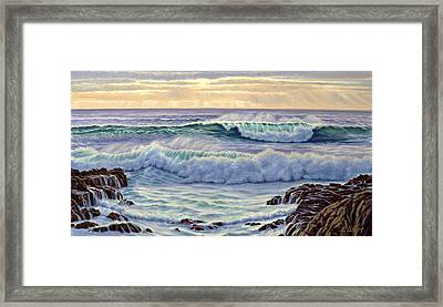 Central Pacific Surf Framed Print by Paul Krapf
