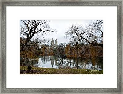 Central Park And San Remo Building In The Background Framed Print by RicardMN Photography