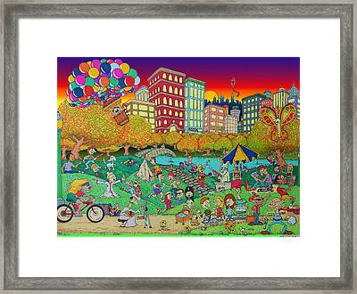 Central Park Central Framed Print by Paul Calabrese
