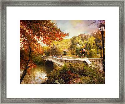 Central Park Crossing Framed Print by Jessica Jenney