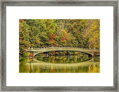 Central Park Fall Scenic Framed Print by Geraldine Scull