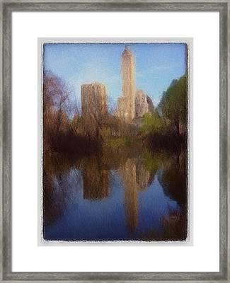 Central Park New York Framed Print by Steve K