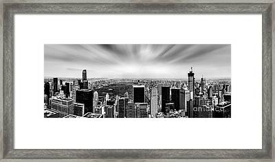 Central Park Perspective Framed Print by Az Jackson