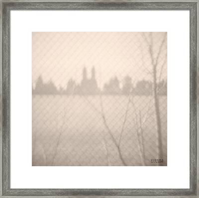 Central Park Reservoir Framed Print by Beverly Brown