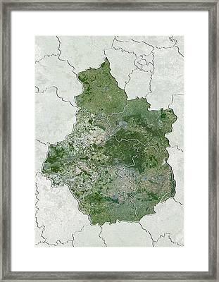 Centre Region, France, Satellite Image Framed Print by Science Photo Library